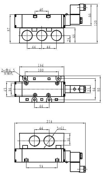 fg25两位五通电磁阀图片