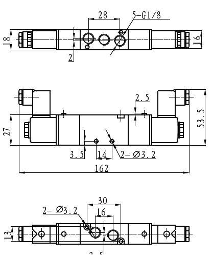 tg2512-06两位五通电磁阀外形尺寸